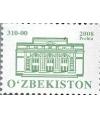 787.Стандартная почтовая марка с изображением Государственного академического большого театра имени Алишера Навои.